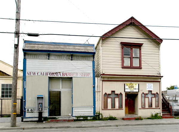 The New California Barber Shop and The House Of God Spiritual Temple, Dogtown, Oakland